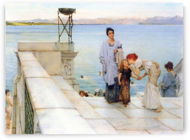 A kiss by Alma-Tadema by Alma-Tadema