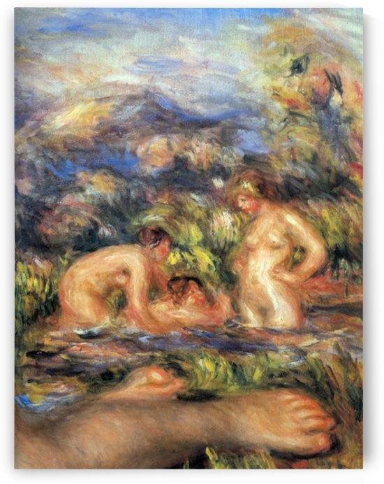 The bathers (Detail) by Renoir by Renoir