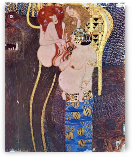 The Beethoven Freize 2 by Klimt by Klimt