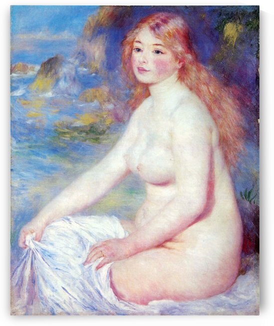The blond bather 1 by Renoir by Renoir