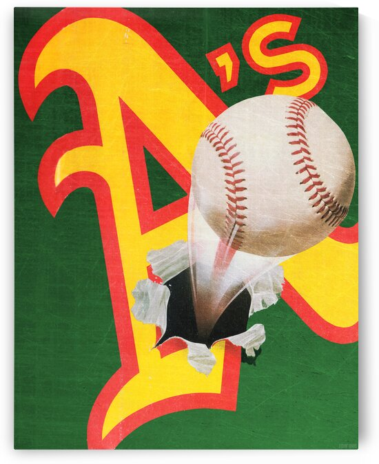 1988 Oakland Athletics Baseball Poster by Row One Brand