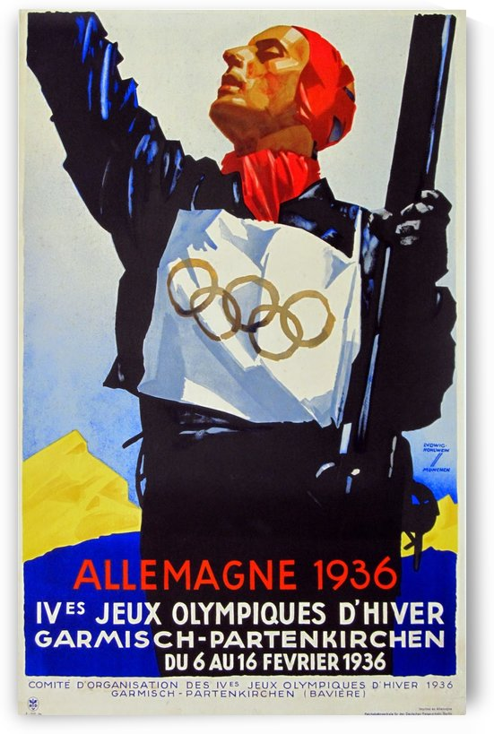 Allemagne 1936 by VINTAGE POSTER