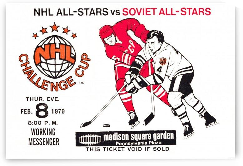 1979 NHL All-Stars vs. Soviet Union Hockey Challenge Ticket Art by Row One Brand