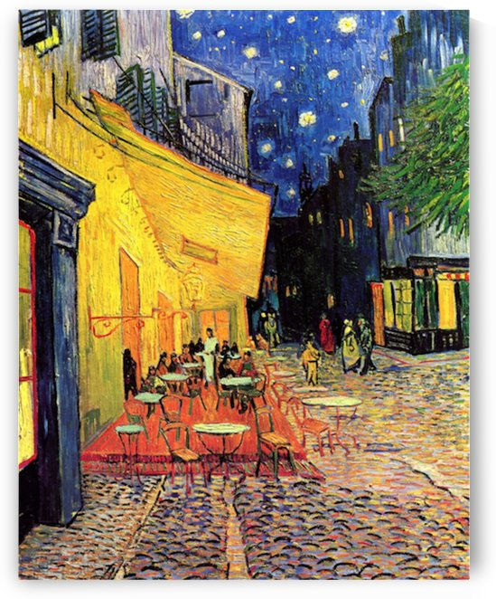 The Cafe Terrace on the Place du Forum Arles at Night by Van Gogh by Van Gogh