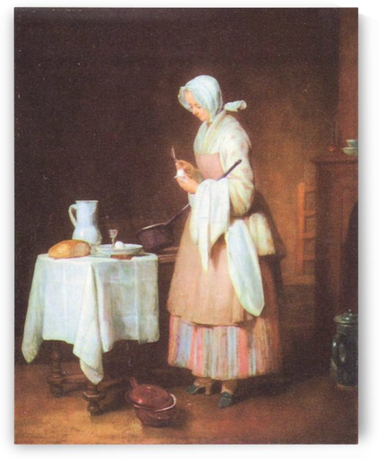 The caring maid by Jean Chardin by Jean Chardin