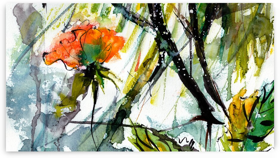 Abstract Flowers 1 by Ginette Fine Art
