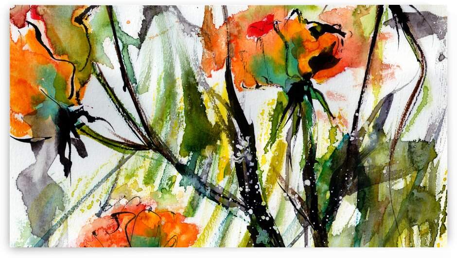 Abstract Flowers 2 by Ginette Fine Art