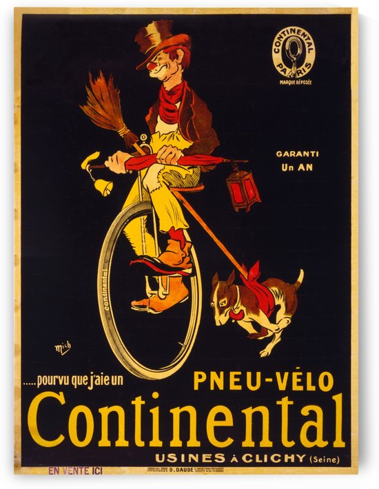 Pneu velo continental by VINTAGE POSTER