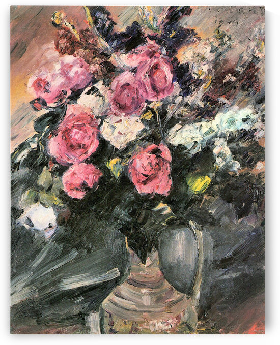 Roses 1 by Lovis Corinth by Lovis Corinth