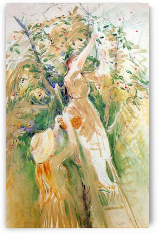 The Cherry Tree, study by Morisot by Morisot