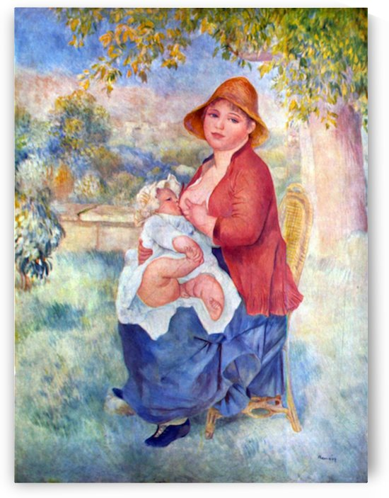 The child at the chest maternity by Renoir by Renoir