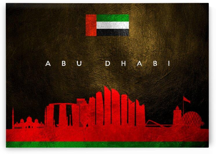 Abu Dhabi United Arab Emirates Skyline Wall Art by ABConcepts
