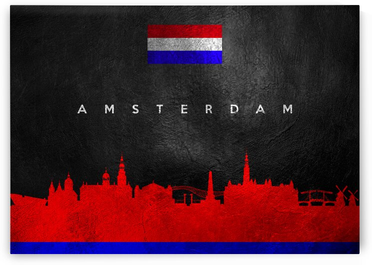 Amsterdam Netherlands Skyline 2 Wall Art by ABConcepts