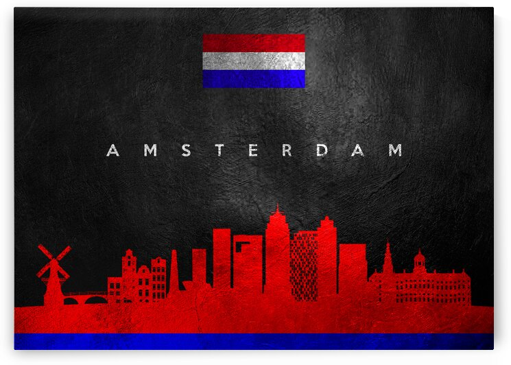 Amsterdam Netherlands Skyline Wall Art by ABConcepts