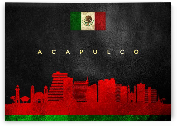 Acapulco Mexico Skyline Wall Art by ABConcepts