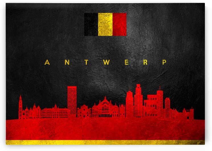 Antwerp Belgium Skyline Wall Art by ABConcepts