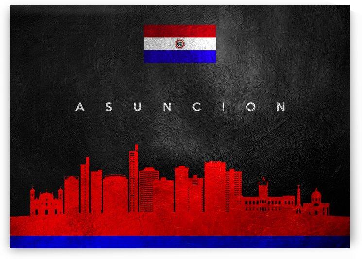 Asuncion Paraguay Skyline Wall Art by ABConcepts