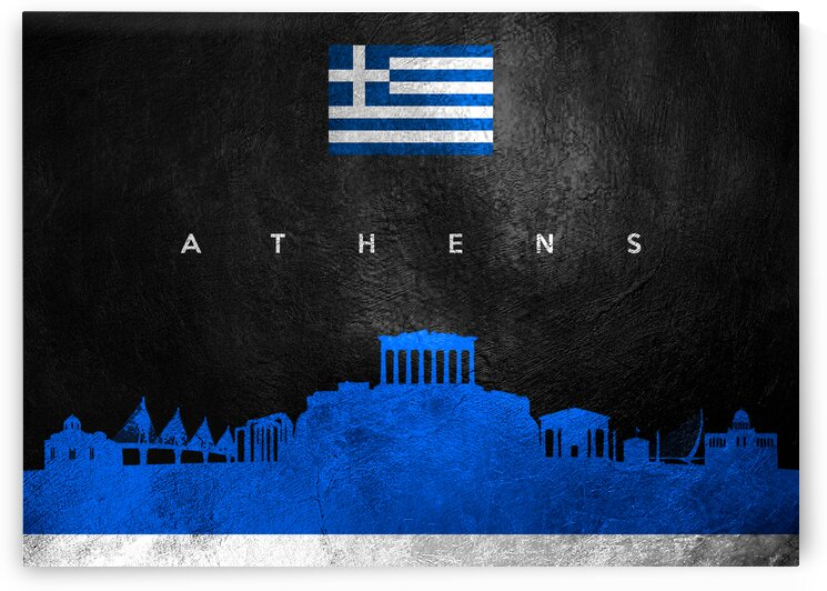 Athens Greece Skyline Wall Art by ABConcepts
