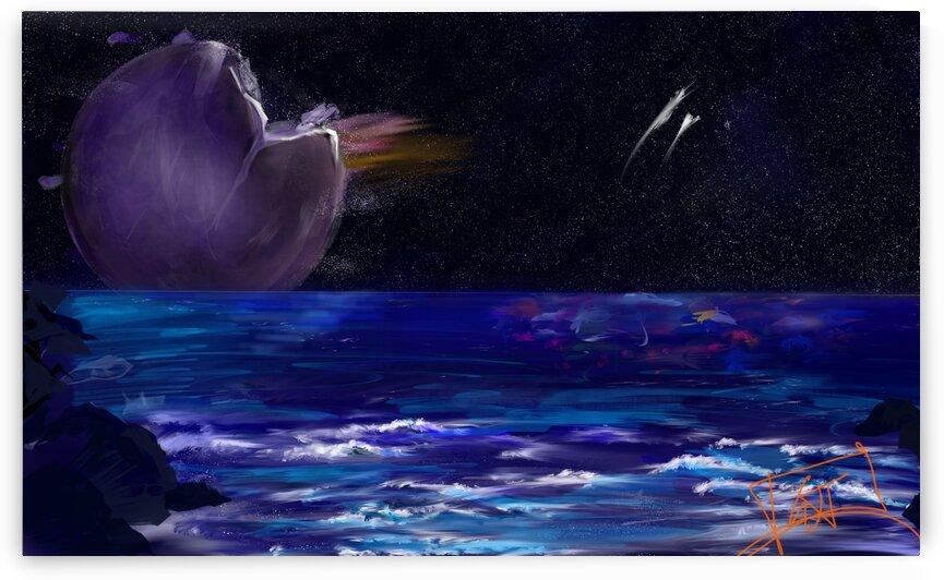 Purple Planet by Vivid Dreams Art