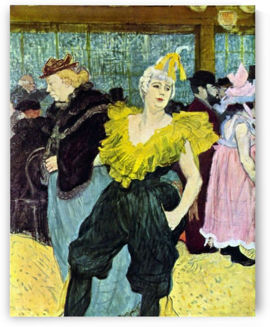 The clowness by Toulouse-Lautrec by Toulouse-Lautrec