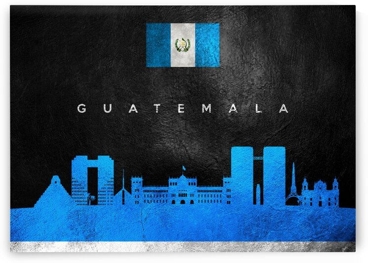 Guatemala Skyline Wall Art by ABConcepts