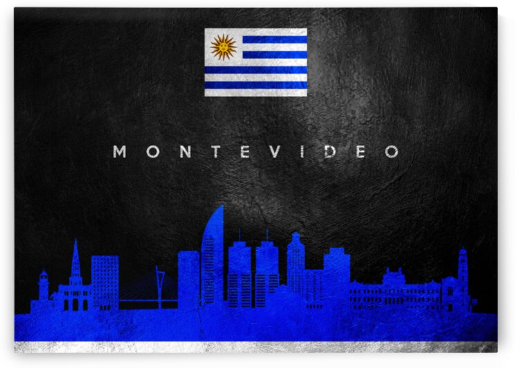 Montevideo Uruguay Skyline Wall Art by ABConcepts