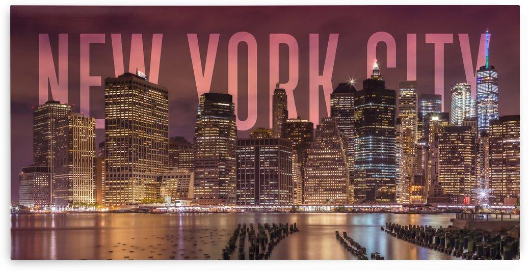 NEW YORK CITY Skyline   Panorama by Melanie Viola