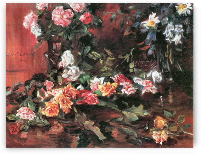 Roses 2 by Lovis Corinth by Lovis Corinth