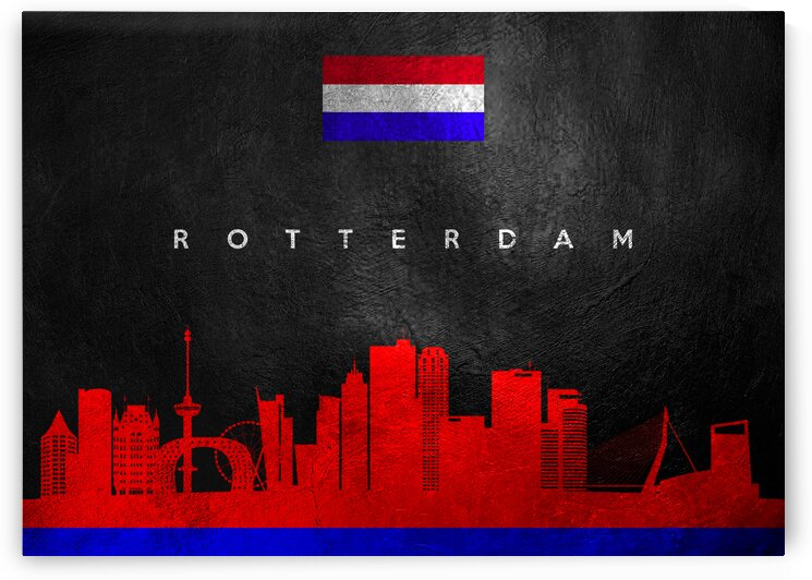 Rotterdam Netherlands Skyline Wall Art by ABConcepts