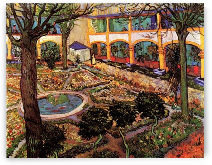 The Courtyard of the Hospital at Arles by Van Gogh by Van Gogh