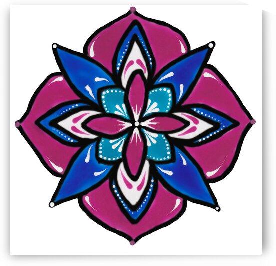 flower mandala  by Anita Varga