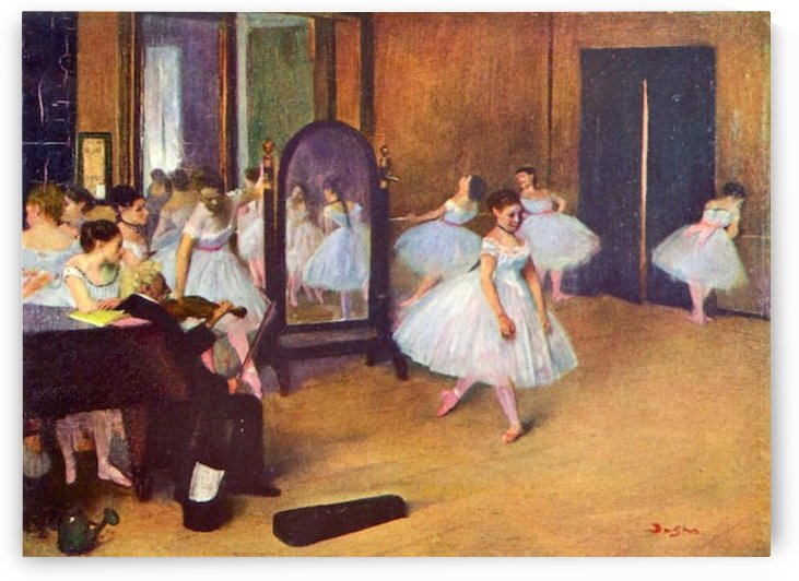 The dance hall by Degas by Degas
