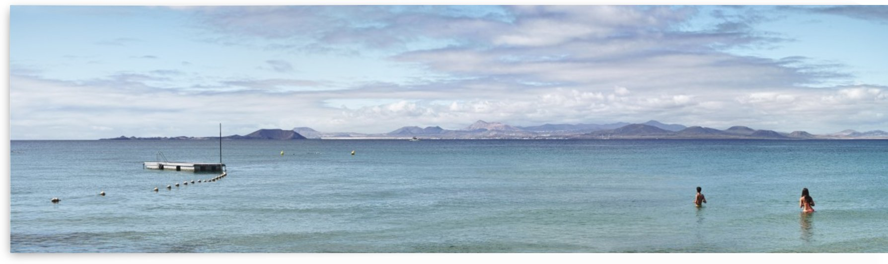 Panorama of Pontoon and Fuerteventura by Adrian Brockwell