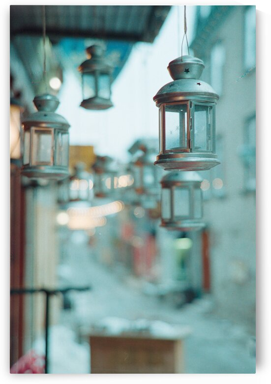 Old Quebec City Lanterns by Michael Squier