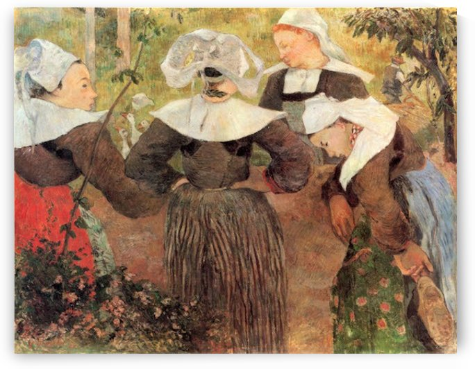 The Dance of 4 Women of Breton by Gauguin by Gauguin
