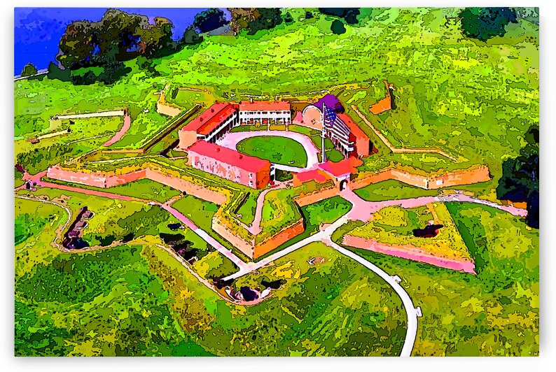 fort mchenry aerial view nps pd b stylized 1613342148.8602 by Bill Swartwout Photography