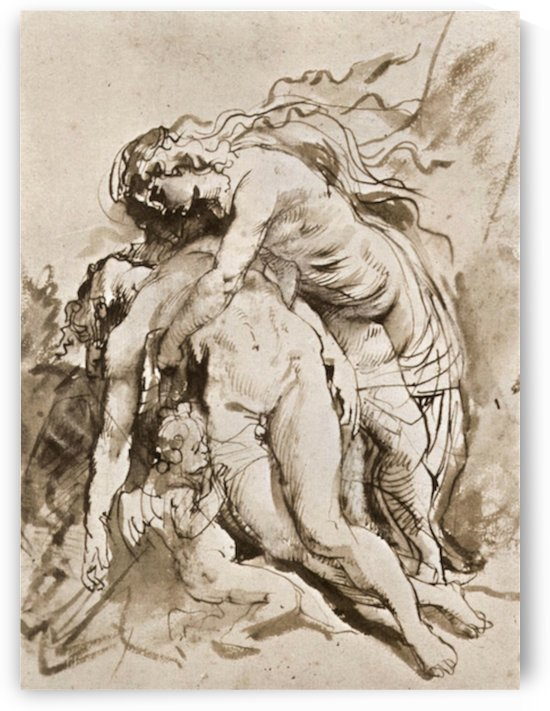 The Death of Adonis by Rubens by Rubens