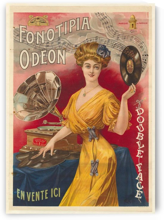 Fonotipia Odeon by VINTAGE POSTER