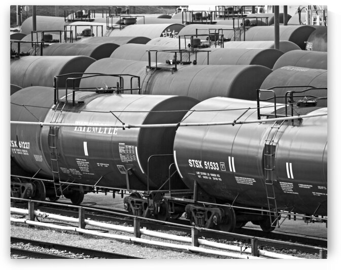 tank cars syrup locust point bw P1220417 by Bill Swartwout Photography