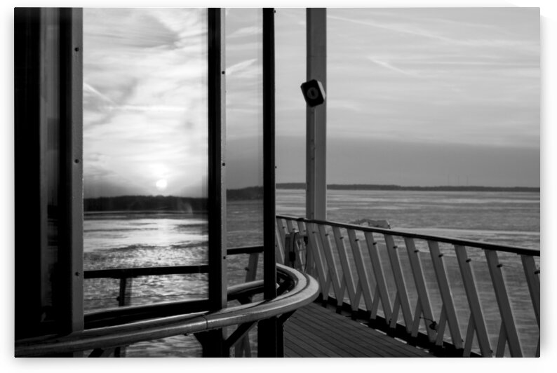 sunset reflection 1638 black white by Bill Swartwout Photography