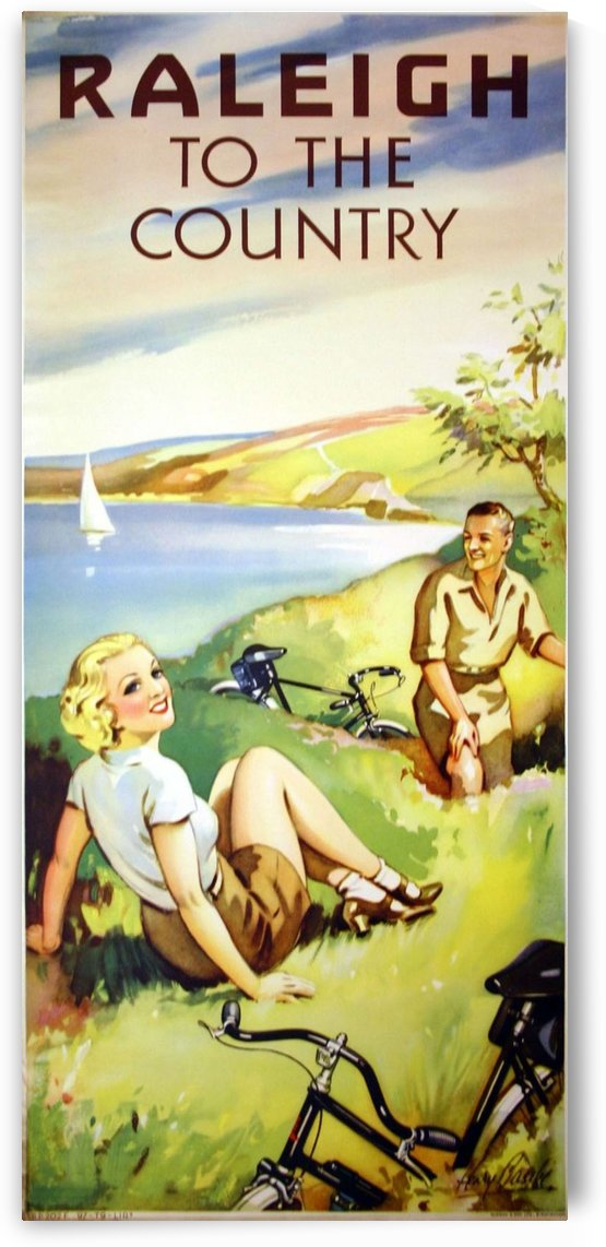Raleigh to the country by VINTAGE POSTER
