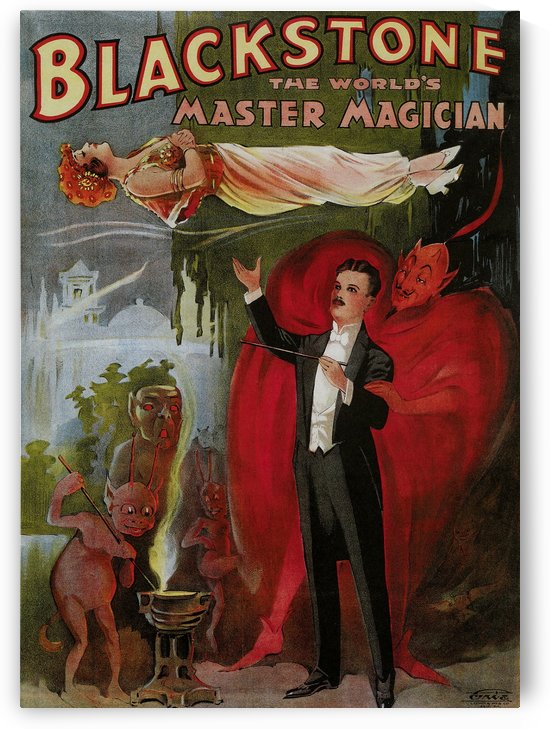 Blackstone Magic Magician by VINTAGE POSTER