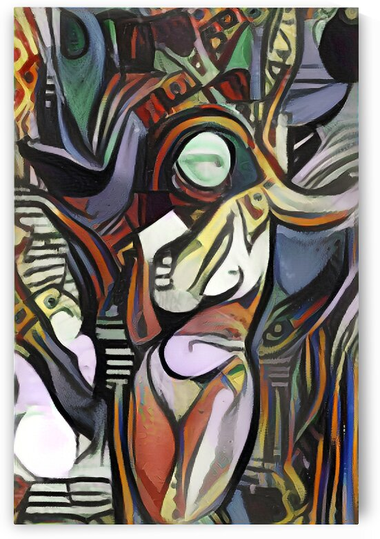 Curvy Woman Picasso Style Wall Art Painting by Million Dollar Art