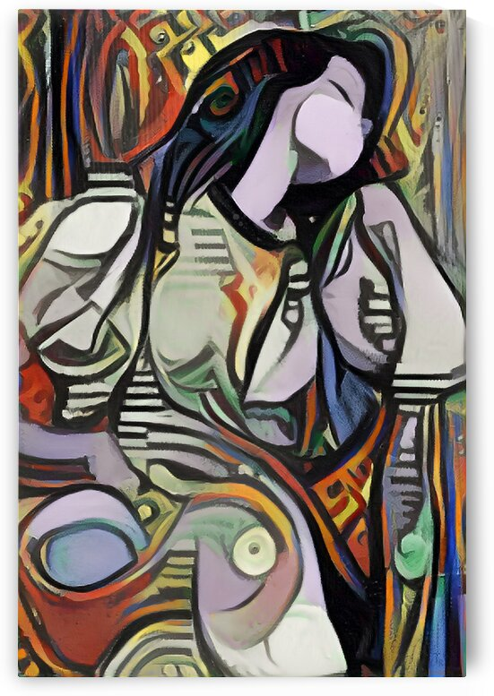 Sleeping Woman Picasso Style Wall Art Painting by Million Dollar Art