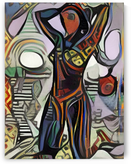 Woman Swimsuit Picasso Style by Million Dollar Art