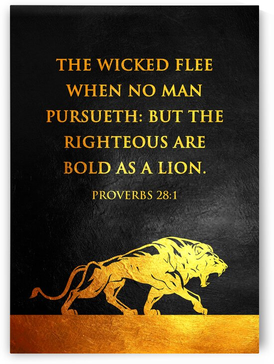 Proverbs 28:1 version 2 Bible Verse Wall Art by ABConcepts