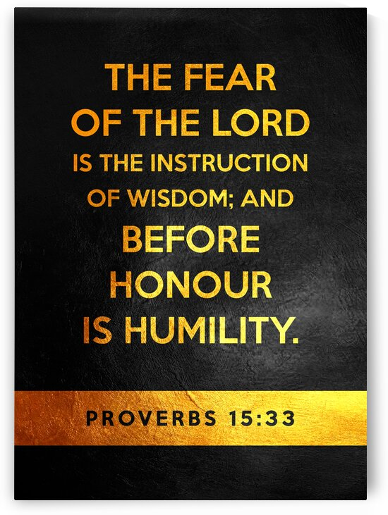 Proverbs 15:33 Bible Verse Wall Art by ABConcepts