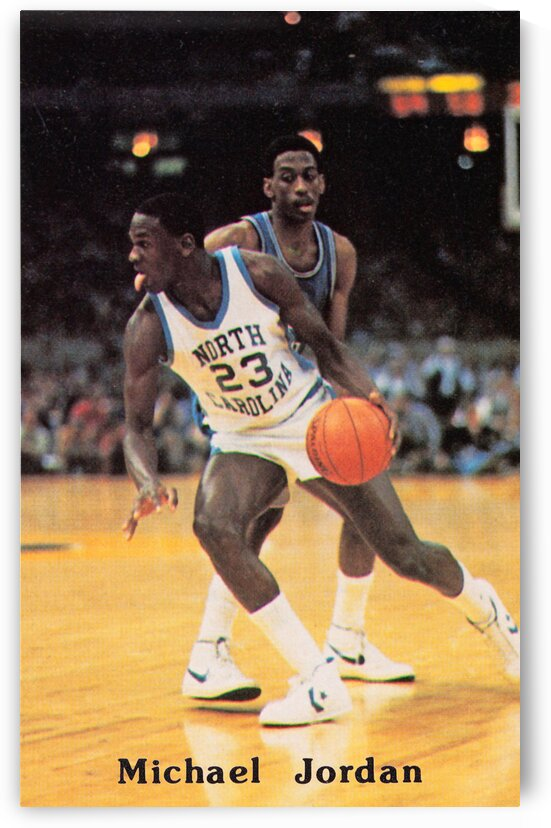 1984 Michael Jordan UNC Basketball Poster by Row One Brand