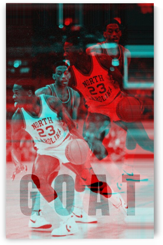 1984 Michael Jordan GOAT Poster by Row One Brand
