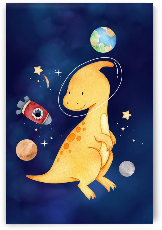 Space dinosaurs kid baby playroom nursery daughter son by Samantha